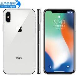 Original Unlocked Apple iPhone X Hexa Core Mobile Phone 256GB/64GB ROM 3GB RAM Dual Rear Camera 12MP 5.8