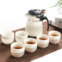 Chinese Ceramic Tea Pot Cups Set 500 ML China Green Tea 1 Teapot 6 Cup for Tea Leaf Strainer Quality Oolong Puer Scented Tea Pot