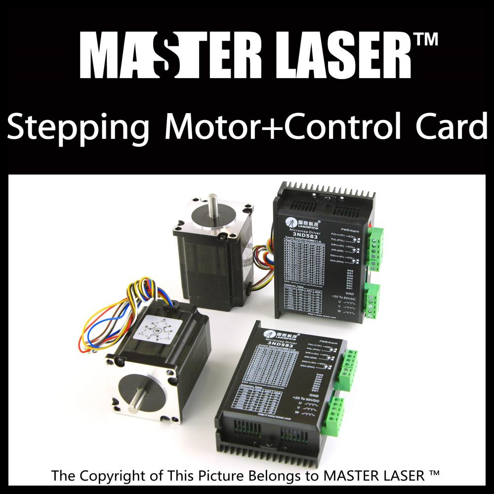 Leadshine Stepping Motor 42HS02 and Motor Driver DM422C for Laser Engraving/Cutting Machine Stepper Motor leadshine 2 phase stepping motor drive ma860h for laser engraving cutting machine stepper motor driver