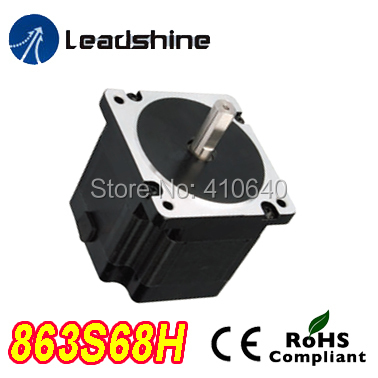Free Shipping GENUINE Leadshine 863S68H 3 Phase Hybrid Stepper Motor with 6.8 N.m 2.3 A length 135mm shaft 14 mm free shipping genuine leadshine 110hs28 phase nema 42 hybrid stepper motor with 28 n m 6 5 a length 201 mm shaft 19 mm