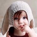 1 pcs do bebê orelhas de coelho chapéu do inverno chapéu gorro de malha cap da criança infantil do bebê da menina boy acessórios fotografia props bb0162