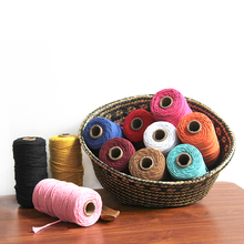 3mm 100% Cotton Rope Home Woven Macrame Cord Tapestry  Arts and Crafts Decorative Twine Thread Chinese Knot