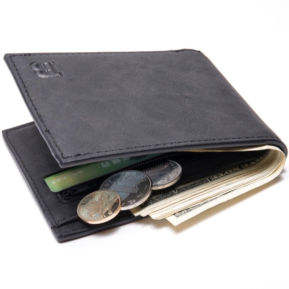 Herrenbekleidung & Zubehör 2019 Männer Brieftasche Münze Tasche Zipper Id Kreditkarte Halter Faux Leder Bifold Geldbörse Top Marke Brieftasche Taschen Förderung Geschenk