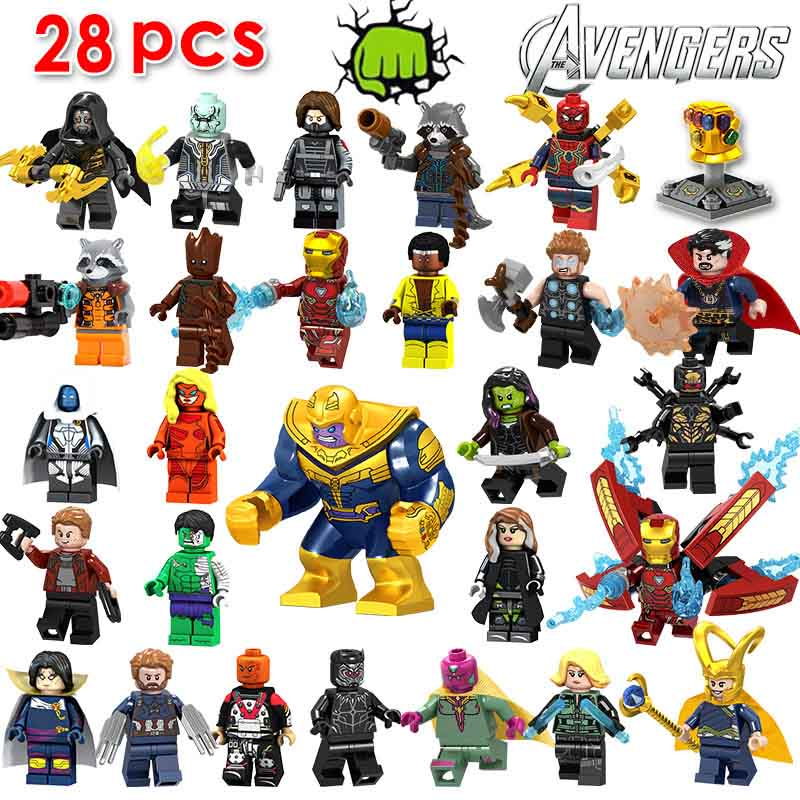 50pcs lot s Infinity War Thanos Iron Man Doctor Strange Black Widow Black Panther Star Lord