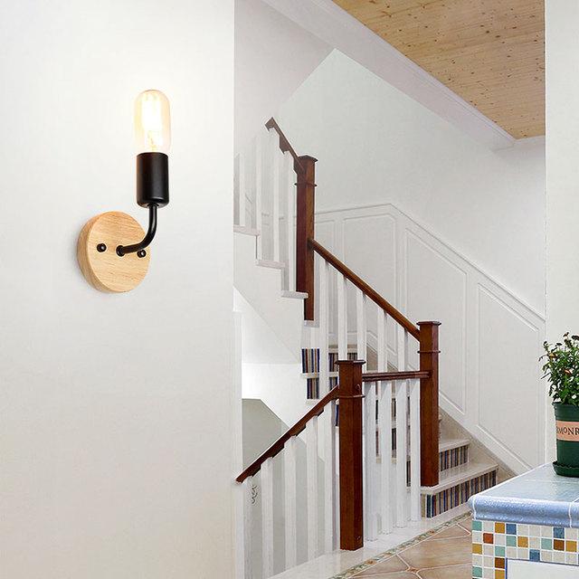 Compact Retro Bedroom Wall Lamp