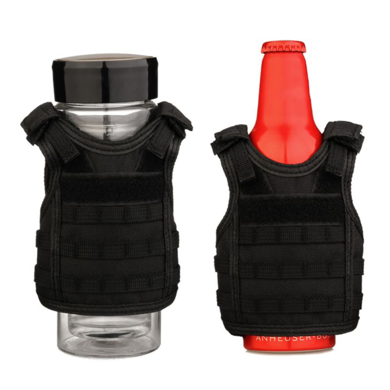 Camping Multi tool Beer Bottle Cover Mini Vest Shape Adjustable Detachable DIY Drinks Can Water Bottles Decoration KTV Bar HX02 in Outdoor Tools from Sports Entertainment