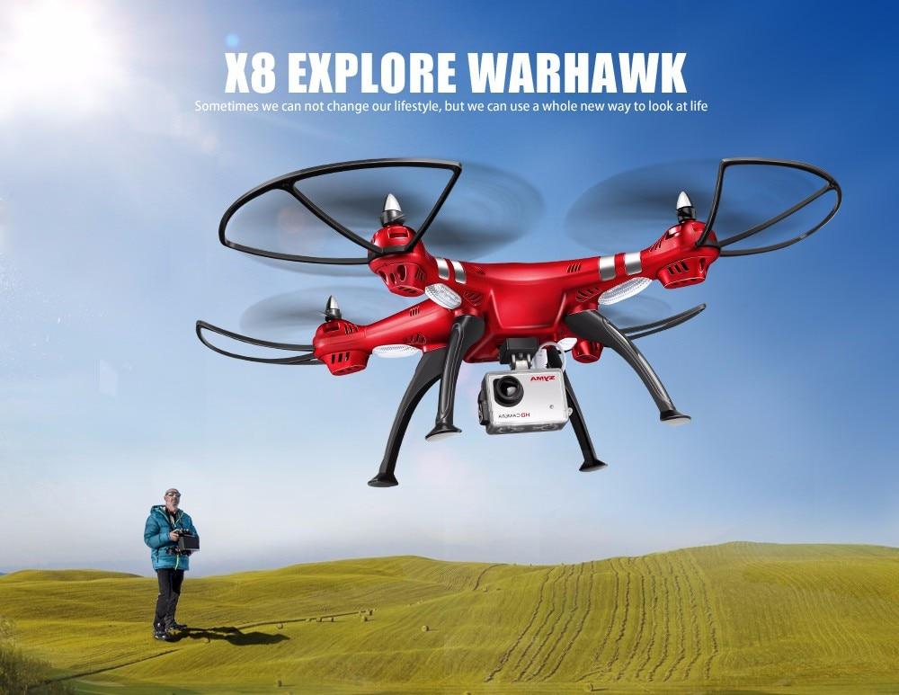 SYMA Professional UAV X8HG X8HW X8HC 2.4G 4CH RC Helicopter Drones 1080P 8MP HD Camera Quadcopter (SYMA X8C/X8W/ X8G Upgrade) 2