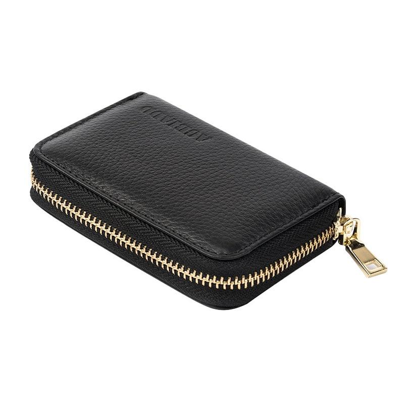 Kvinnor Dragkedja Kreditkortshållare Äkta Läder Mode Korthållare - Plånböcker - Foto 5