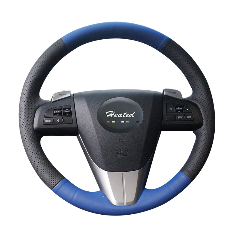 Braid on the Steering Wheel Cover for Mazda 3 Axela 2008-2013 Mazda CX-7 CX7 2010-2016 Mazda 5 2011-2013 For Mazda 6 GH 6 44 2011