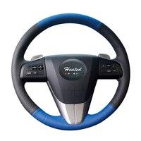 Braid on the Steering Wheel Cover for Mazda 3 Axela 2008 2013 Mazda CX 7 CX7 2010 2016 Mazda 5 2011 2013 For Mazda 6 GH