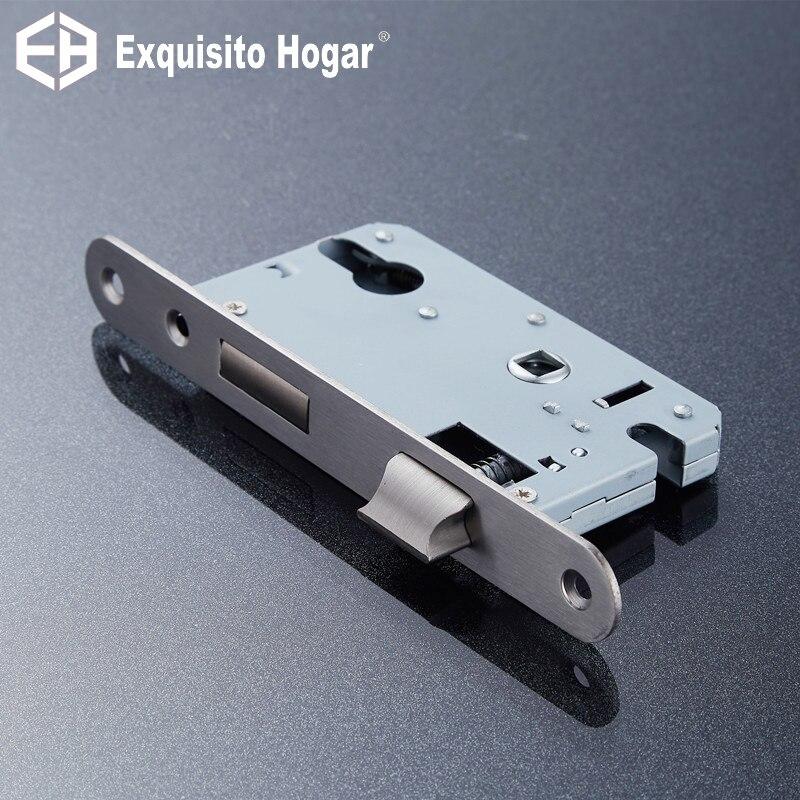 Stainless Steel 50X45 Lock Hardware Door Split Lock Body Wooden Door Lockcase Metal Fillet Panel