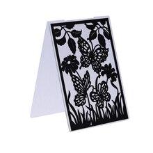 Flower Butterflys Plastic Embossing Folder Template for Scrapbook Photo Album Christmas Card Cutting Dies Template Decor