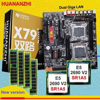 Discount HUANAN ZHI dual X79 motherboard with M.2 slot discount motherboard with CPU Intel Xeon E5 2690V2 3.0GHz RAM 64G(4*16G) - DISCOUNT ITEM  31% OFF All Category