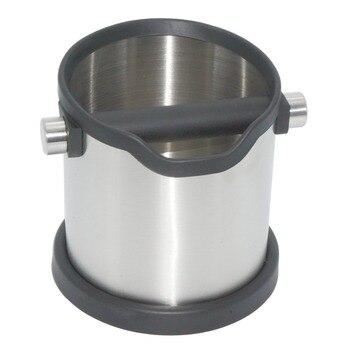 1800 ml Roestvrij Staal Koffie Klop Doos Espresso Grind Container Afvalbak Koffie Gereedschap voor Barista + antislip base