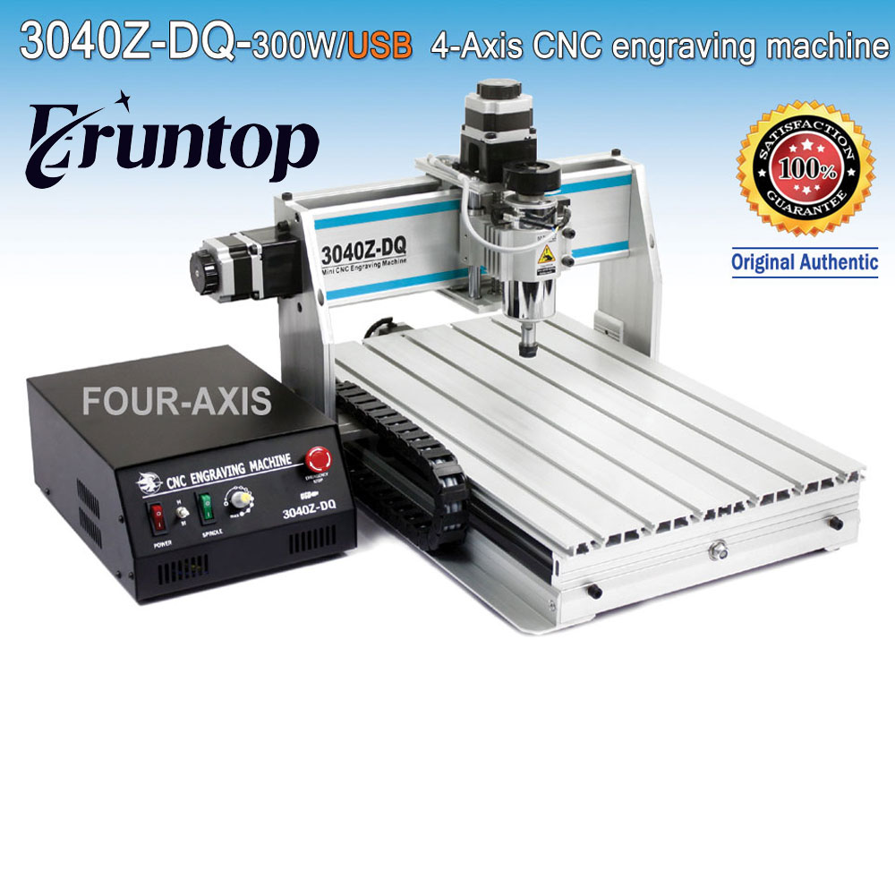 300W Four-axis Ball Screw CNC Router Engraver Engraving Milling Drilling Cutting Machine CNC 3040 Z-DQ USB eur free tax cnc 6040z frame of engraving and milling machine for diy cnc router