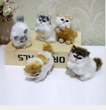 WYZHY Simulation animal model cute mini kitten home decoration ornaments handicraft gift set 5  9CMx4CMx8CM