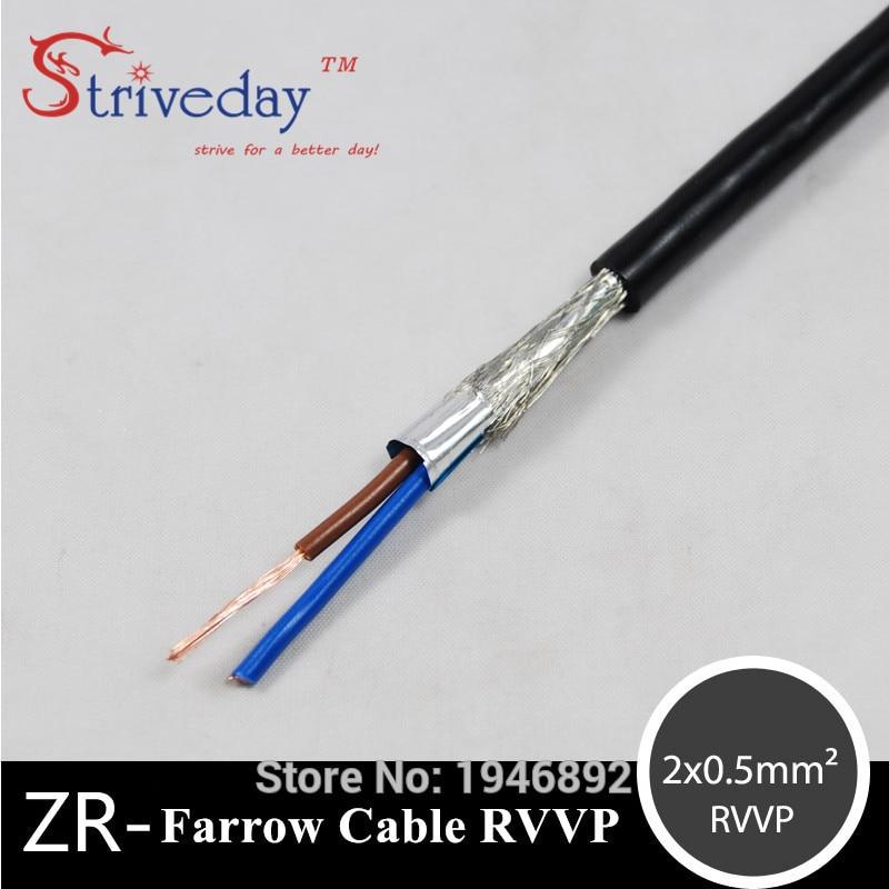 Высокое качество ZR RVVP-2 * 0,5 мм квадратный жилы скручены Farrow кабель RVVP сигнала Управление Медный провод