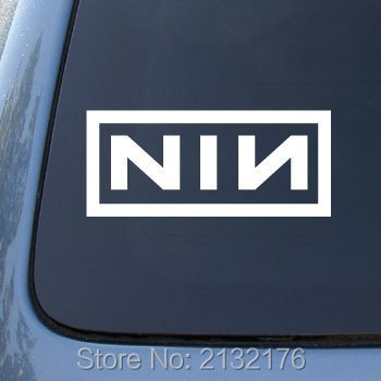 NIN Car stickers die cut vinyl decal for windows car bumper truck tool box laptops MacBook 5.5 White Black