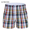 LUWCON Brand Loose Plaid Cotton Men's Underwear Boxer Shorts High Quality Mens Leisure Lounge Home Wear Underpants