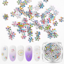 T-TIAO CLUB Snowflake Nail Glitter Sequins Colorful Mixed Christmas Sparkles For Nails DIY Manicure  3D Art Decoration