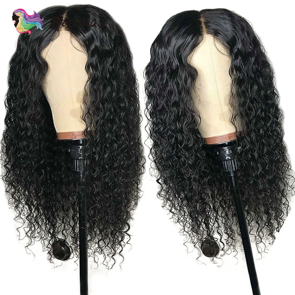 Deep curly Lace front wigs 100 Brazlilian Human Remy curly lace wig preplucked natural black color