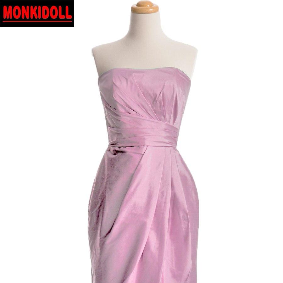 Dusty Pink Short Bridesmaid Dresses 2017 Taffeta Ruched Cheap ...