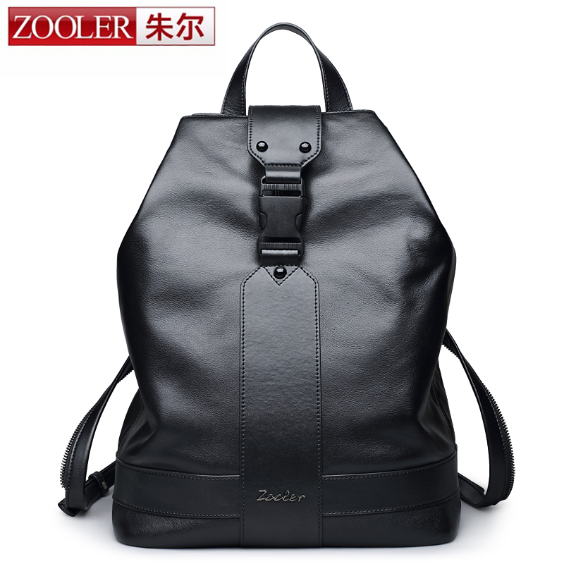 ZOOLER genuine leather backpacks for men 2016 new backpack schoolboy Famous Brand China hot large capacity HOT #8338 zooler genuine leather backpacks for men boy 2016 new backpack real leather famous brand china hot large capacity bag 8339