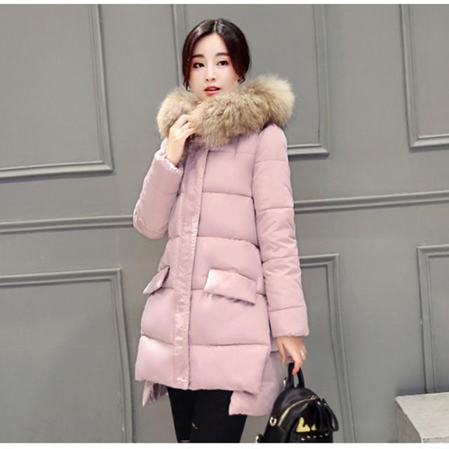 Añadir largo abajo engrosamiento chaqueta de mujer de algodón acolchado ropa de abrigo