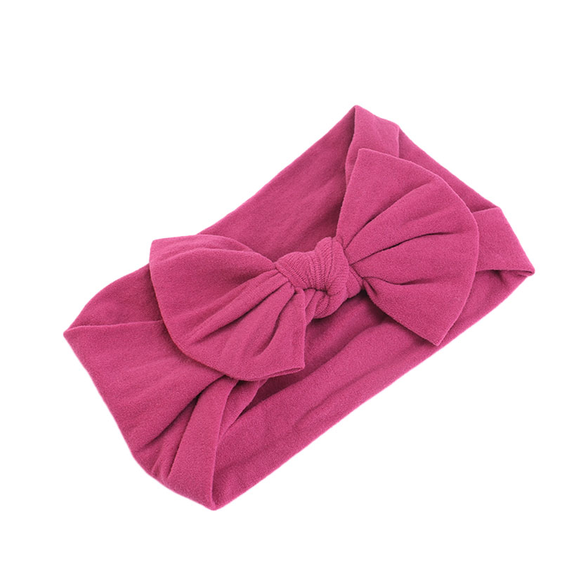2019 New Baby Big Bow Headband Soft Large Hair Bows Turban Hair Bands for Children Girls Elastic Headwrap Hair Accessories in Hair Accessories from Mother Kids