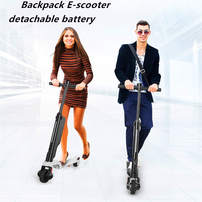 Newest design foldable backpack 250w electric kick scooter with bluetooth speaker ...