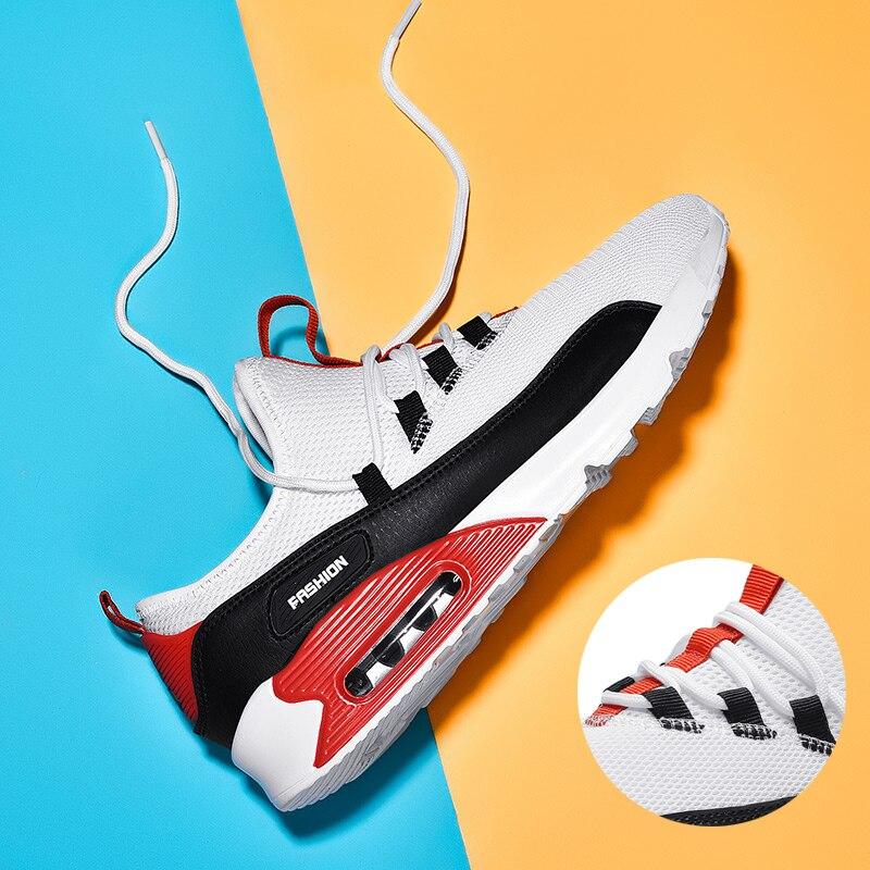 Design Original unisexe hommes chaussures coussin d'air 2019 été hommes baskets blanc noir chaussures pour homme chaussures décontractées Couple grande taille