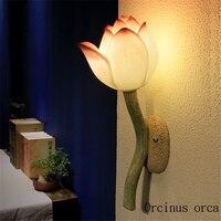 중국어 벽 램프 거실 침실 계단 베란다 발코니 장식 입구 조명 간단한 현대 벽 램프