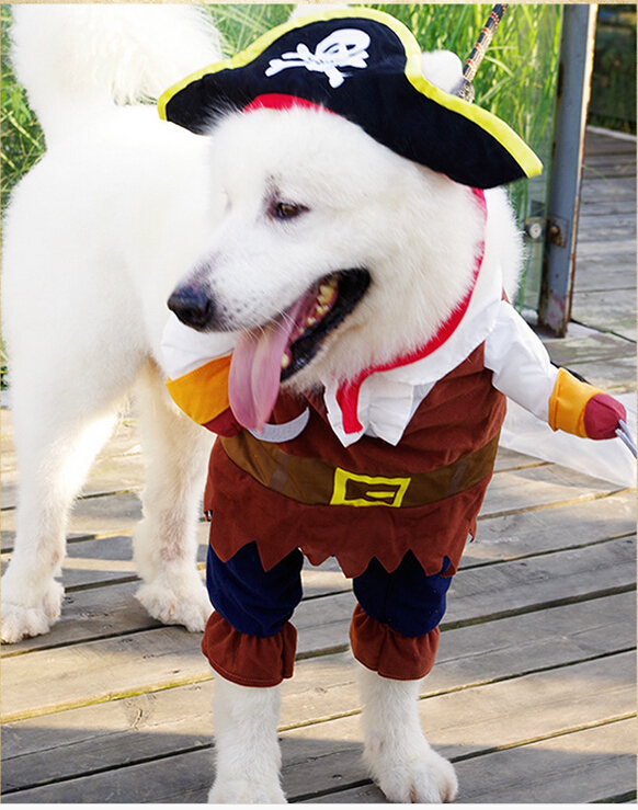 2015 Free Shipping minion custume Halloween Pet Dog Costumes Pirate Dog Costume with Skull Hat Coolu0026Funny Dog Clothes Clothing-in Jumpsuits u0026 Rompers from ... & 2015 Free Shipping minion custume Halloween Pet Dog Costumes Pirate ...