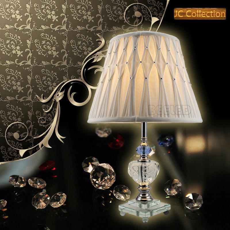 mooden crystal table lamp clear vintage desk lamp e27 bulb