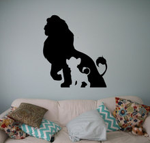 цена на Lion King Vinyl Cartoon Cartoon Wall Sticker Wall Home Indoor Children's Room Decoration Detachable Sticker ET17