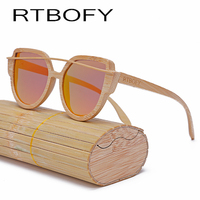 RTBOFY Wood Sunglasses Women 2017 Brand Designer Fashionable Sun Glasses Cat eye Sunglasses Handmade Polarized UV400 Eyewear