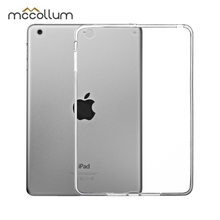Soft Silicone Tablet Case For iPad Pro 10.5 9.7 2017 2018 2019 ipad Air 2 Case Cover For iPad Mini 5 4 2 1 3 Transparent TPU Bag tee 10 one shoulder sleeves bag w handle for ipad ipad 2 ipad 3 blue white