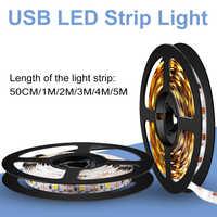Led USB Strip Light 5V Flexible LED Light Tape Ribbon 50CM 1M 2M 3M 4M 5M Led TV Background Lighting Christmas Decor Lamp Tape