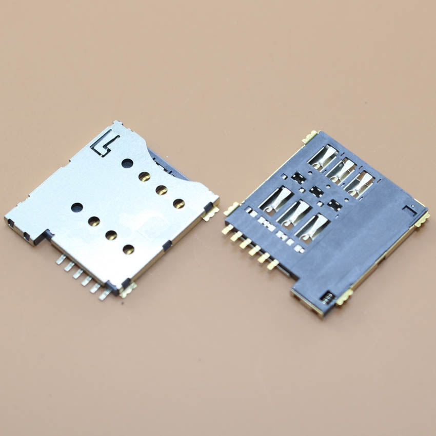 YuXi Real high quality 6pin push micro sim card socket holder slot replacement connector.