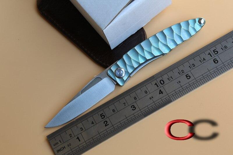 JUFULE OEM Sebenza Mnandi M390 Blade wood Titanium handle folding font b knife b font Copper
