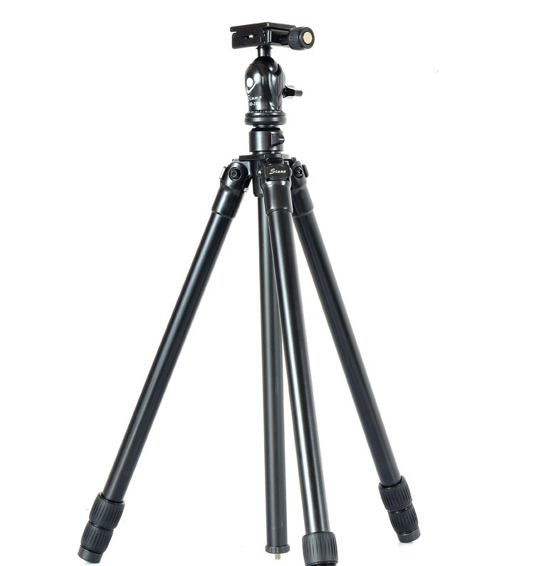 ФОТО Q13721 Sinno A-2322 Portable Aluminum Alloy Tripod kit 3 Section with Ball Head Loading 10KG for SLR DSLR Camera Camcorder +FS