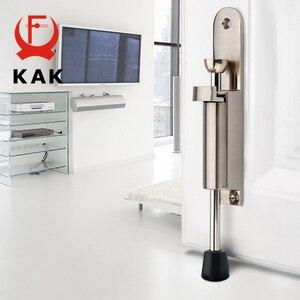 Image 3 - Kak batentes da porta com pé, alavanca de liga de zinco ajustável, suporte de porta em bronze