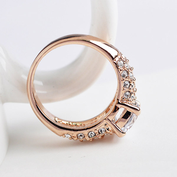 Four Claw 7mm Zircon Wedding Rings for women fine Jewelry Rose Gold color Engagement rings female Anel gift top qaulity