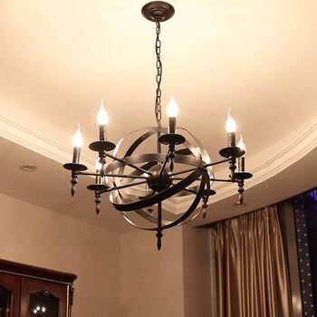 Американский кантри креативный Лофт свет Промышленный стиль, Ретро Бар Ресторан свет кафе, кованая люстра «клетка для птиц»