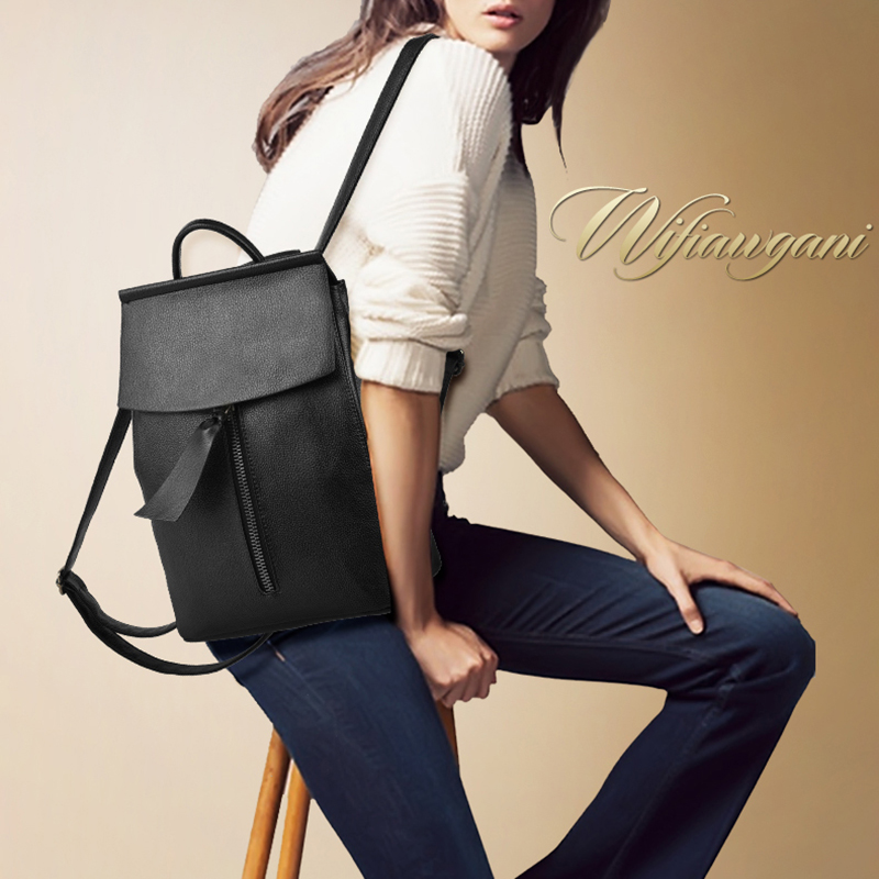 mulheres mochila de couro minimalista Handle/strap Tipo : Soft Handle