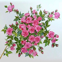 High Quality Home Decor Gift DIY 5D Diamond Painting Watercolours Pretty Flower Cross Stitch Rose Sunflowers