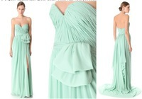 Hot Sell Sexy Sweetheart Country Style Mint Green Bridesmaid Dresses 2013 Chiffon Long BO1203