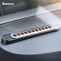 Baseus Car Temporary Parking Card Phone Number Card Plate Luminous Telephone Number Car Park Car Styling Stickers Accessories