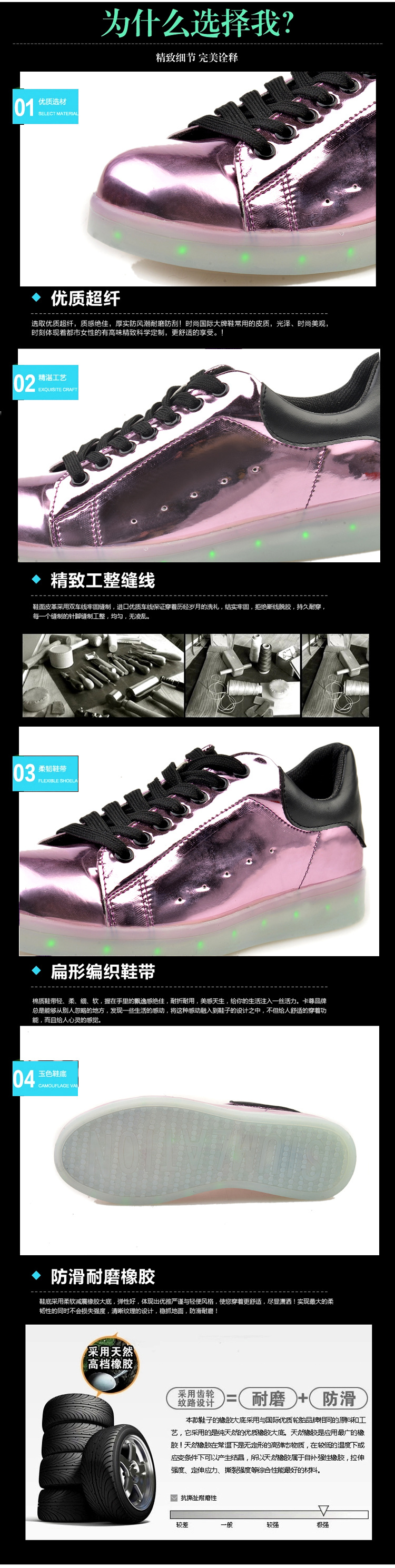 17 Baby Girls Boys LED Light Sneakers Colorful USB Charging for Kids Flashing Casual Flat students children Luminous Shoes 4