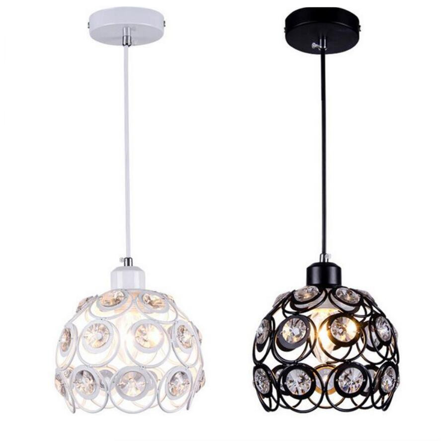 Modern K9 Crystal Chandeliers White Black Led Lamps Living Room Dining Chandelier
